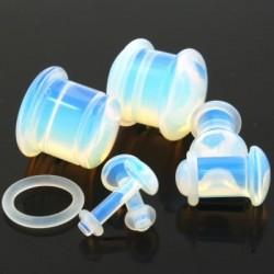 Opalite Single Flare Stone Plugs
