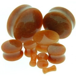 Yellow Aventurine Double Flare Stone Plugs