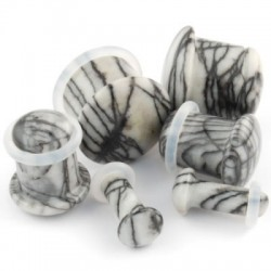 Picasso Jasper Single Flare Stone Plugs