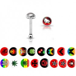 Picture Logo Surgical Steel Nose Bone Nose Studs
