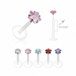 Push-in Flexible BIO Labret with Prong-set Star CZ