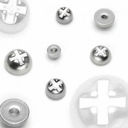 Surgical Steel Screw Nuts Body Jewelry Replacement