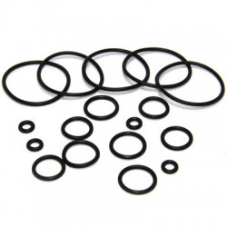 Flexible Black Rubber O-Rings Body Jewelry Parts