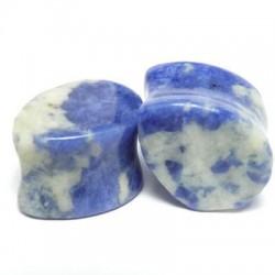 Sodalite Teardrop Stone Plugs
