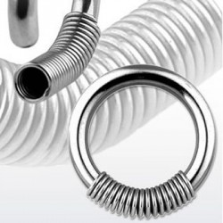 Spring Surgical Steel Captive Bead Rings