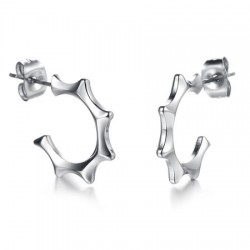 Casting Sign Symbol Stainless Steel Ear Studs