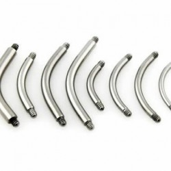 Surgical Steel Banana / Curved Barbell Pins