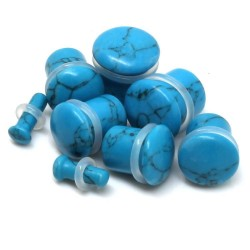 Turquoise Single Flare Stone Plugs