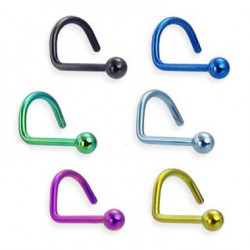 Titanium Anodized Ball Head Nose Screw Nose Stud Rings