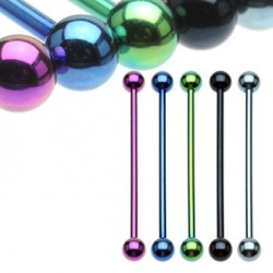 Titanium Anodized Surgical Steel Industrial Barbells