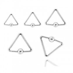 Triangle Surgical Steel Captive Bead Rings