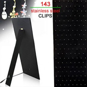 143 Clips Black Velet Cardboard Body Jewelry Display