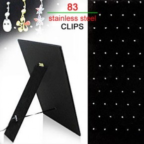 83 Clips Black Velet Cardboard Body Jewelry Display