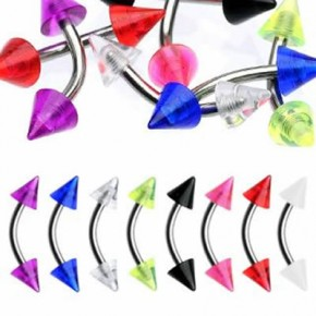 Acrylic UV Cone Banana / Curved Barbells