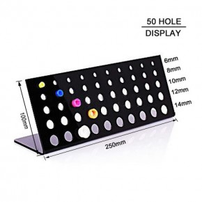 50 Holes Stand Black Acrylic Body Jewelry Display