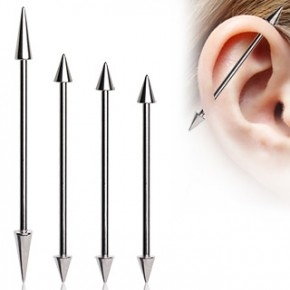 Surgical Steel Cone Industrial Barbells