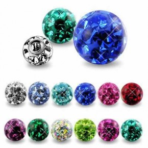 Epoxy Crystaline Ferido Ball Body Jewelry Parts
