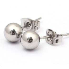 Stainless Steel Ball Ear Studs