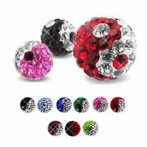 Epoxy Crystaline Taiji Ferido Ball Body Jewelry Parts