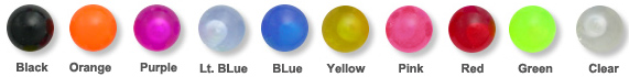 Body Jewelry Acrylic Ball Color Chart