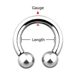 Measure Circular Barbells / Horseshoe Barbells